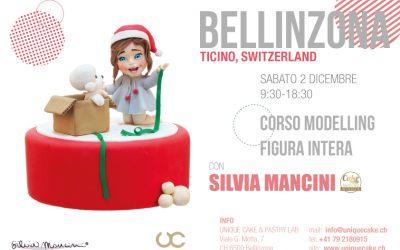 SVIZZERA, Bellinzona, 2 Dicembre, CORSO MODELLING FIGURA su TORTA NATALIZIA