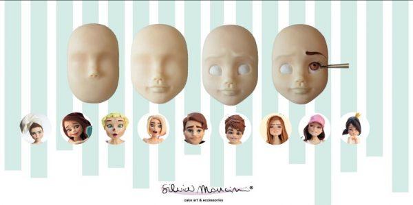modelling viso pasta di zucchero silvia mancini